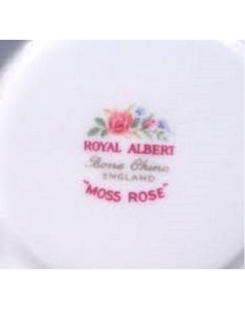 ROYAL ALBERT MOSS ROSE TEA TRIO